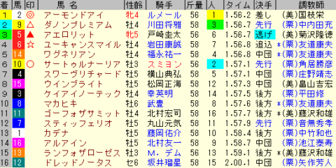 天皇賞秋2019 レース結果全着順