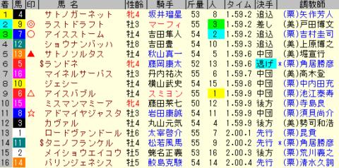 中日新聞杯2019 レース結果全着順