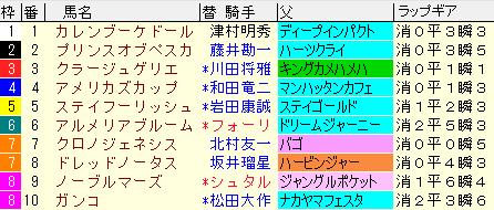 京都記念2020 枠順確定ラップギア適性値
