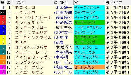 天皇賞春2020 枠順確定ラップギア適性値