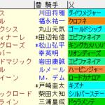 新潟2歳S2021 枠順確定