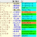 シリウスS2020 枠順確定ラップギア適性値