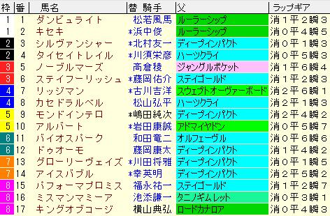 京都大賞典 枠順確定ラップギア適性値