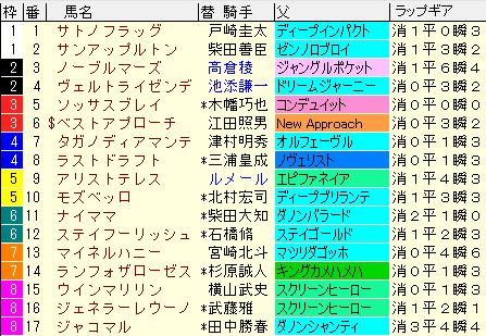 AJCC2021 枠順確定ラップギア適性値