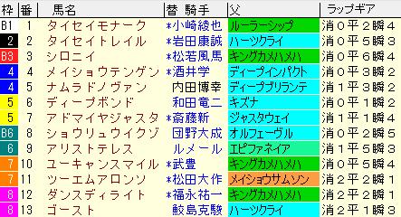 阪神大賞典2021 枠順確定ラップギア適正値